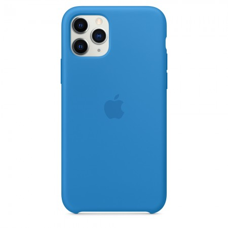 Silicone case на iPhone 11 Pro (Surf blue)