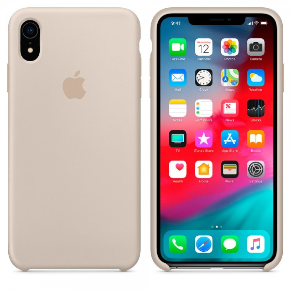 Silicone case на iPhone Xr (Stone)