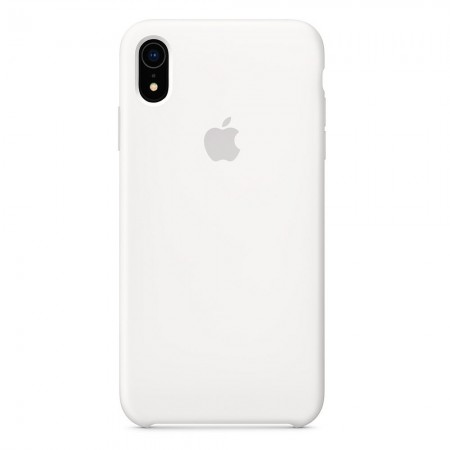 Silicone case на iPhone Xr (White)