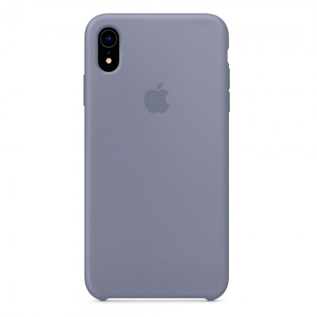 Silicone case на iPhone Xr (Lavender Gray)