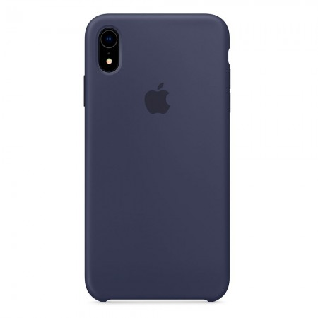 Silicone case на iPhone Xr (Midnight blue)