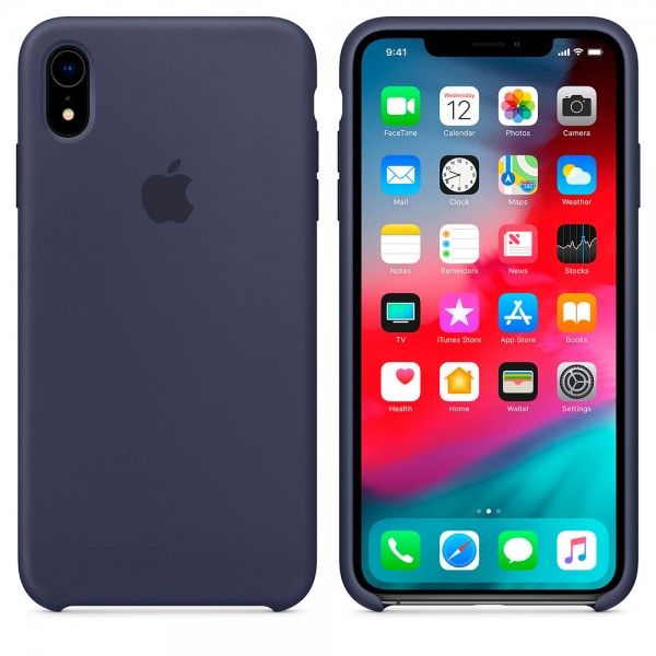 Silicone case на iPhone Xr Class 1 (Midnight blue)