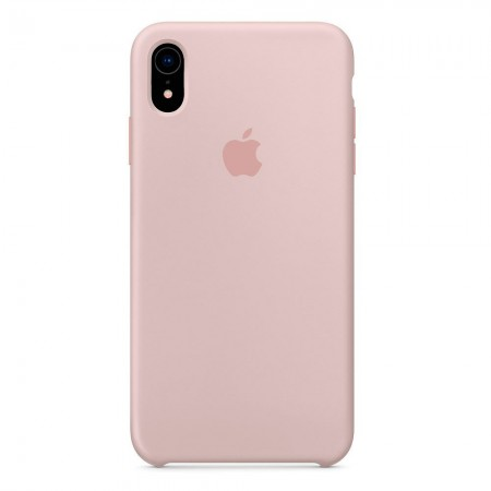 Silicone case на iPhone Xr (Pink Sand)