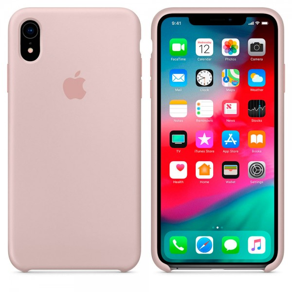 Silicone case на iPhone Xr Class 1 (Pink Sand)